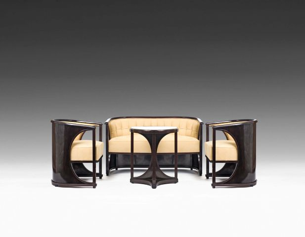 halbmondgarnitur josef hoffmann zug susanne bauer. Black Bedroom Furniture Sets. Home Design Ideas