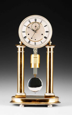 exceptional empire column clock susanne bauer viennese. Black Bedroom Furniture Sets. Home Design Ideas
